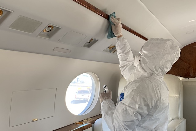 Cleaning and disinfecting aircraft and facilities ensures a safe and healthy environment.